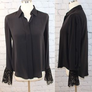 Chloe blouse with lace cuffs